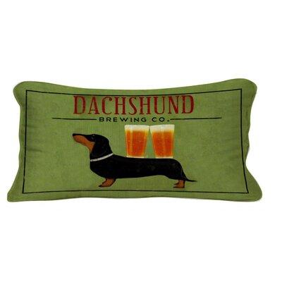 Dachshund Brewing Co Lumbar Pillow