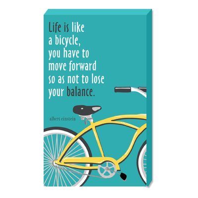 Life Is Like A Bicycle Wooden Plock By Heidi Dobrott Textual Art Plaque