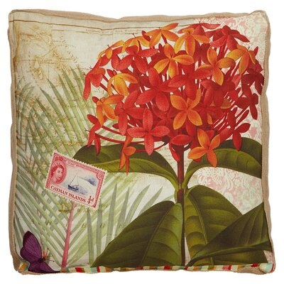 Tradewinds Floral Throw Pillow