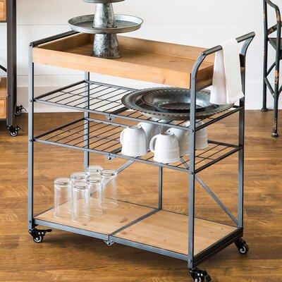 Dovenby Wooden Folding Bar Cart