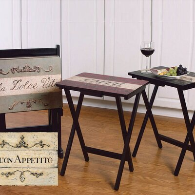 Buon Appetito TV Tray with Stand