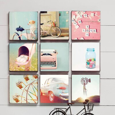 Wall On By Mandy Lynne 9 Piece Graphic Art On Canvas Set