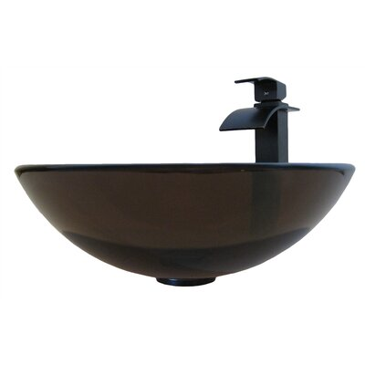 TY Glass Circular Vessel Bathroom Sink