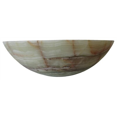 Green Onyx Circular Vessel Bathroom Sink