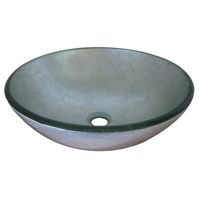 Argento Glass Circular Vessel Bathroom Sink