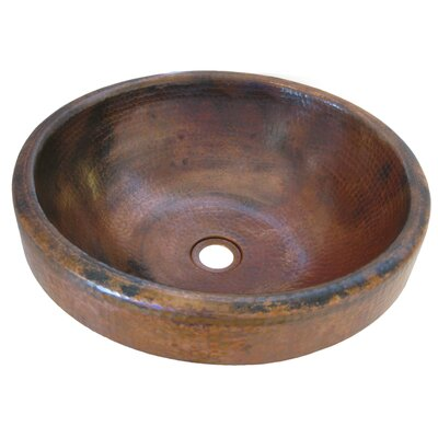 Granada Copper Self Rimming Bathroom Sink Sink Finish: Natural