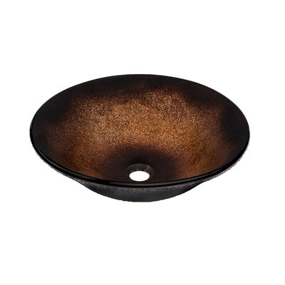 Sanguinello Glass Circular Vessel Bathroom Sink