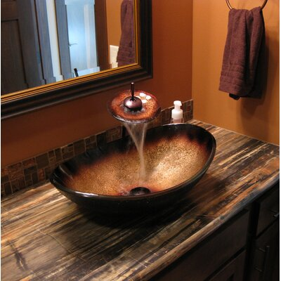 Rena Glass Oval Vessel Bathroom Sink