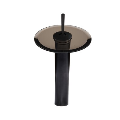 Falls Single Handle Faucet with Drain Assembly Glass Color: Tea, Finish: Oil Rubbed Bronze