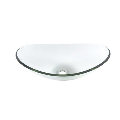 Chiaro Glass Oval Vessel Bathroom Sink