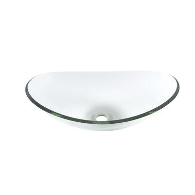 Chiaro Glass Oval Vessel Bathroom Sink