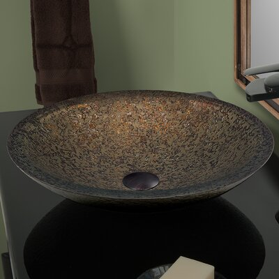 Laghetto Glass Circular Vessel Bathroom Sink