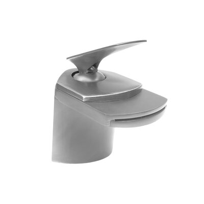 Single Lever Deck Mount Waterfall Faucet Finish: Brushed Nickel