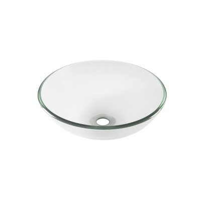 Bonificare Glass Circular Vessel Bathroom Sink