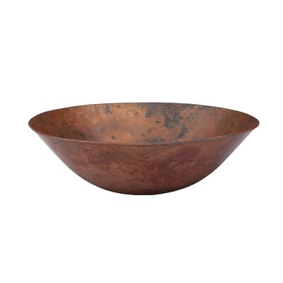 Catalonia Copper Circular Vessel Bathroom Sink Sink Finish: Natural
