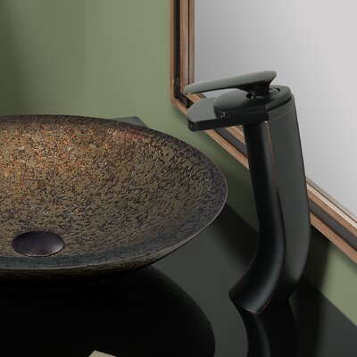 Cascade Single Handle Waterfall Vessel Faucet Set Finish: Oil Rubbed Bronze