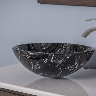 Pallina Glass Circular Vessel Bathroom Sink