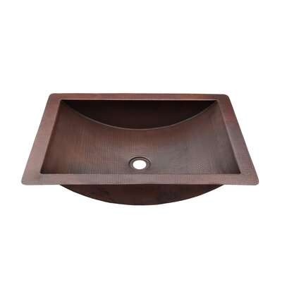 Merida Metal Rectangular Drop-In Bathroom Sink Sink Finish: Antique