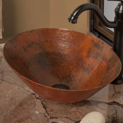 Bilboa Copper Metal Oval Vessel Bathroom Sink Sink Finish: Natural