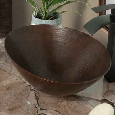 Bilboa Copper Oval Vessel Bathroom Sink Sink Finish: Antique