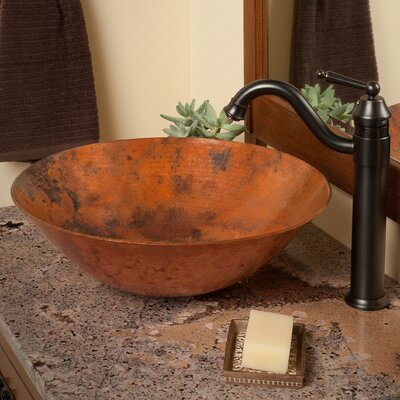 Catalonia Circular Vessel Bathroom Sink Sink Finish: Natural