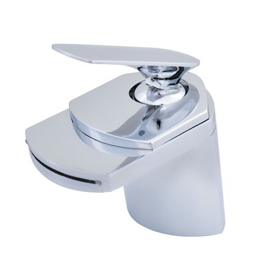 Single Lever Deck Mount Waterfall Faucet Finish: Chrome
