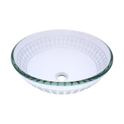 Imponeren Glass Circular Vessel Bathroom Sink