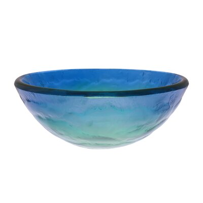 Mare Glass Circular Vessel Bathroom Sink