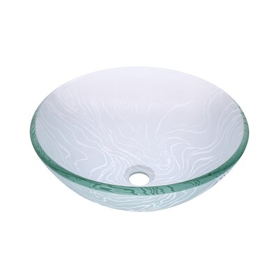 Gelo Glass Circular Vessel Bathroom Sink