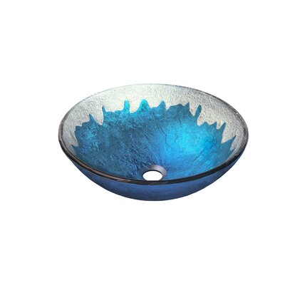 Diaccio Glass Circular Vessel Bathroom Sink