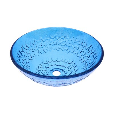 Glass Circular Vessel Bathroom Sink