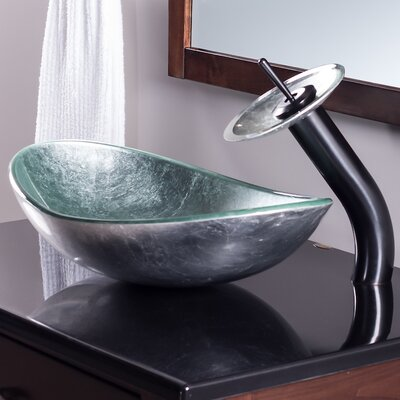 Argento Oval Vessel Bathroom Sink Faucet Finish: Oil Rubbed Bronze