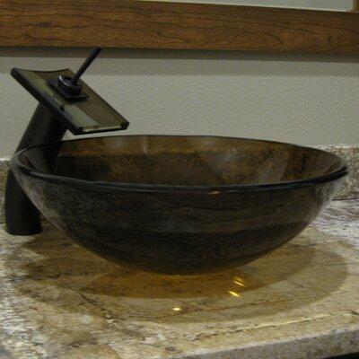 Ty Glass Circular Vessel Bathroom Sink