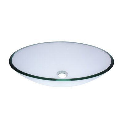 Ovale Glass Oval Vessel Bathroom Sink