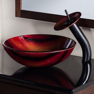 Autunno Glass Circular Vessel Bathroom Sink