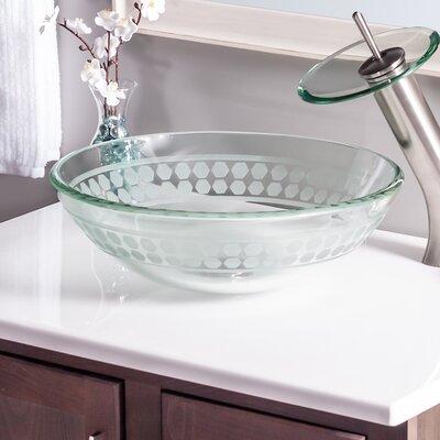Imponeren Glass Circular Vessel Bathroom Sink