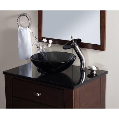 Falls Single Handle Waterfall Faucet Glass Color: Smoke, Finish: Brushed Nickel