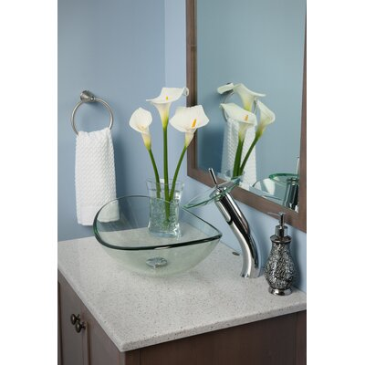 Slipper Glass Oval Vessel Bathroom Sink Sink Finish: Clear
