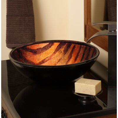 Mimetica Glass Circular Vessel Bathroom Sink