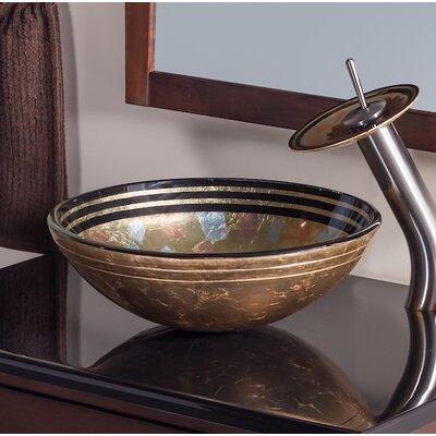 Celebrazione Glass Circular Vessel Bathroom Sink