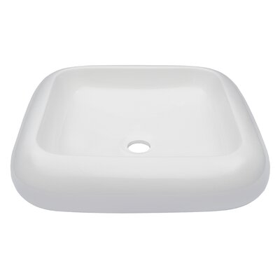 Square Ceramic Square Vessel Bathroom Sink