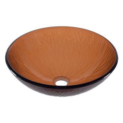 Gambo Glass Circular Vessel Bathroom Sink
