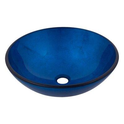 Verdazzurro Glass Circular Vessel Bathroom Sink