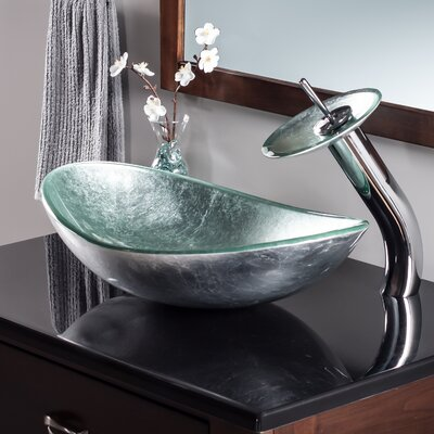 Argento Oval Vessel Bathroom Sink Faucet Finish: Chrome
