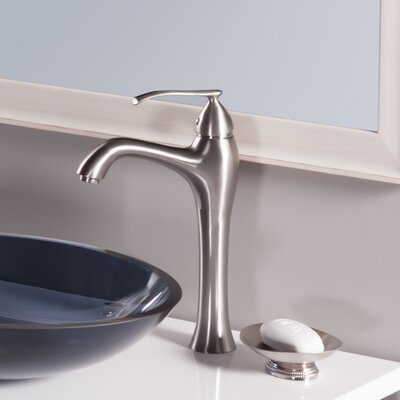 Traditional Single Hole Handle Bathroom Faucet Finish: Brushed Nickel