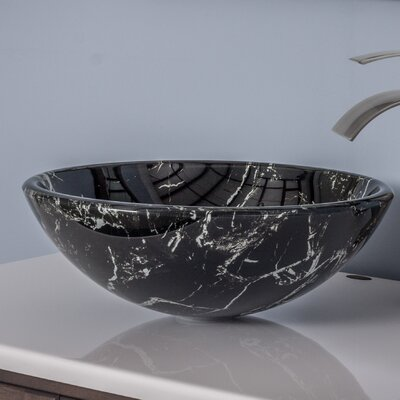 Pallina Glass Circular Vessel Bathroom Sink