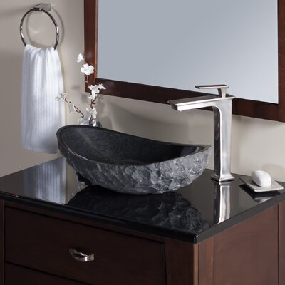 Absolute Stone Oval Vessel Bathroom Sink