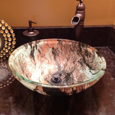 Cullare Glass Circular Vessel Bathroom Sink