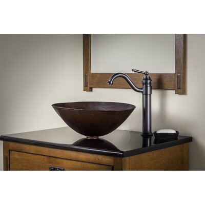 Bilboa Metal Oval Vessel Bathroom Sink with Faucet Sink Finish: Antique