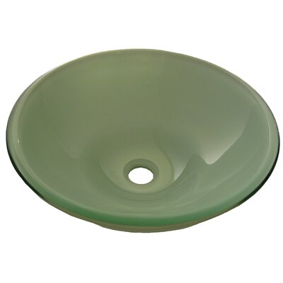 Glassato Glass Circular Vessel Bathroom Sink